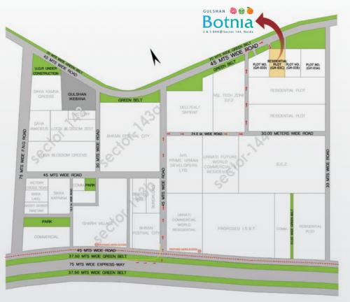 Different Site Plan Gulshan Botnia At Noida Sector 144 By