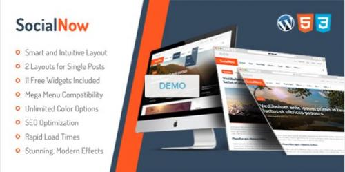 Get a really beautiful social-viral and multipurpose WordPress theme named SocialNow.