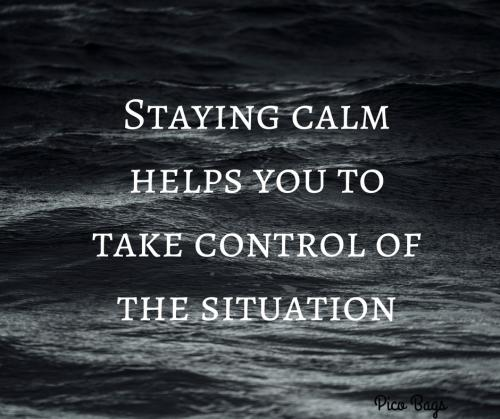 how to become calm and composed
