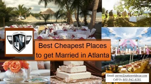 Best cheapest places to get married in atlanta by nation for Best place to get married