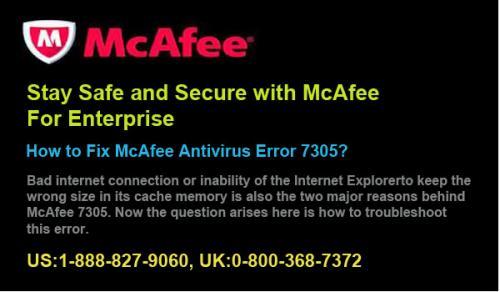 How to Fix McAfee Antivirus Error 7305? by Ellie Williams