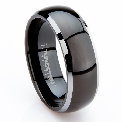 unique mens wedding ring buy unique mens black tungsten rings by carla bruni 8171