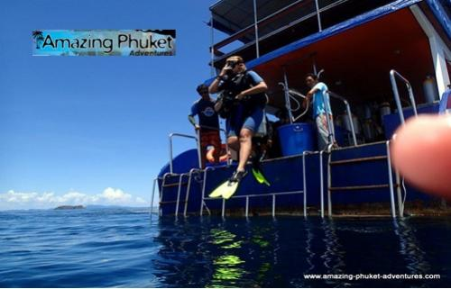diving in Rawai in Phuket